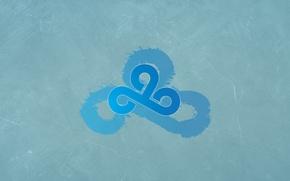 Picture reflection, ice, logo, counter-strike, csgo, cs go, cloud9