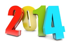 Picture color, background, figures, new year, 2014