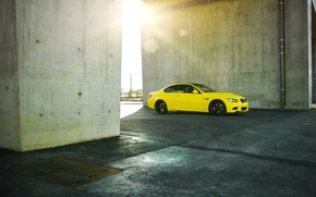 Picture BMW, Tuning, BMW, Yellow, Drives, E92, Deep Concave
