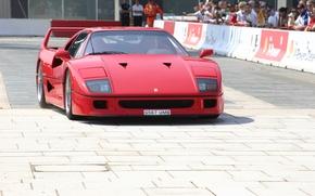 Picture Red, Auto, Machine, Ferrari, People, Ferrari, F40, Supercar, Supercar, The front, Ferrari F40, F 40, …