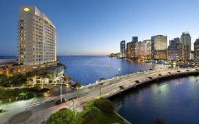 Wallpaper road, the city, the ocean, home, Miami, FL, Bay, USA, the hotel, Miami