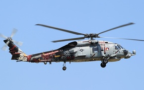 Picture flight, helicopter, military transport, Seahawk, Sikorsky SH-60B