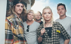 Picture Jenna Mcdougall On, Tonight Alive, pop-punk, Matt Best, She, Jake Hardy, Cam Adler, Australia group