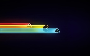 Picture monsters, Tron, pekman, pac-man, pacman, pacman