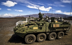 """Picture army, soldiers, USA, USA, military equipment, APC, """"Stryker"""" (Stryker)"""