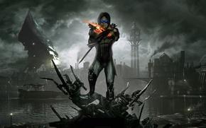 Picture mass effect 3, fan art, Dishonored, Reaper, Kai LEng, when the leng, Dunwall City