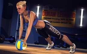 Wallpaper the ball, training, girl, Cassie Cage, Mortal Kombat, the gym, fighter