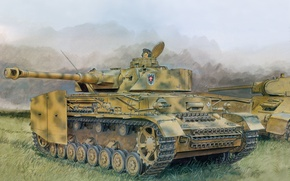Picture figure, art, tank, Pz.Kpfw.IV