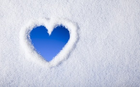Picture winter, snow, heart