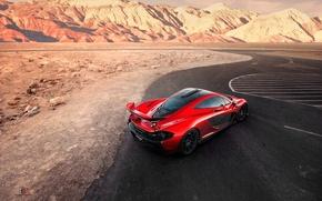 Picture McLaren, Orange, Death, Sand, View, Supercar, Valley, Hypercar, Exotic, Rear, Volcano, Top, Extra, Terrestrial