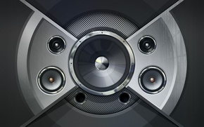 Picture music, b/W, speakers, acoustics