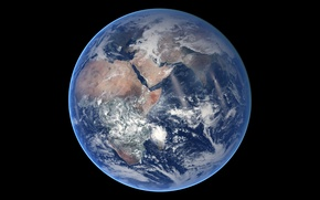Picture space, planet, Earth, continents, oceans
