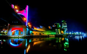 Picture night, Spain, night, Spain, Bilbao, Bilbao