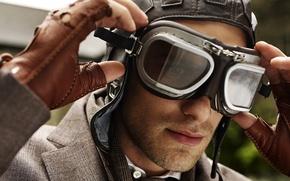 Picture model, glasses, costume, guy, pilot