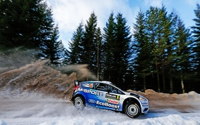 Picture Ford, Snow, Ford, Skid, WRC, Rally, Rally, Fiesta, There Miss