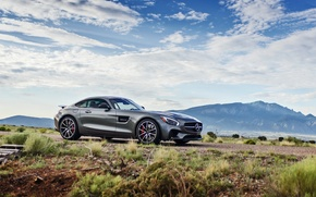 Picture car, mountains, lunchbox photoworks, mercedes gt