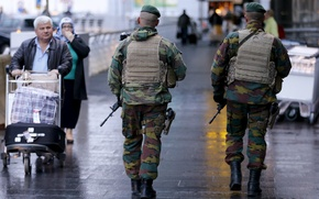 Picture soldiers, military, streets, security, armed
