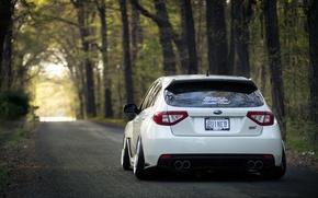 Picture STI, WRX, Subaru, Impreza, Stance, White, Subaru, Impreza