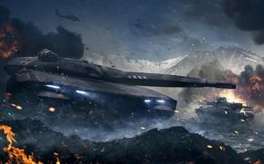 Wallpaper Armored Warfare, Obsidian Entertainment, The Armata Project, CryEngine, my.com, mail.ru, tank, PL-01
