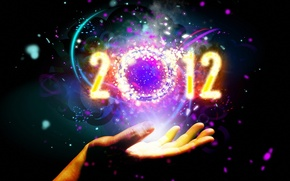 Picture hand, 2012, year, new