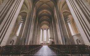 Picture Denmark, Church, Cathedral, monochrome, Copenhagen