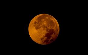 Wallpaper stars, the moon, satellite, Eclipse, Moon