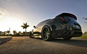Picture samurai, black, R35, Nissan GTR