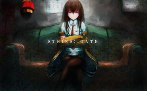 Wallpaper girl, anime, art, makise kurisu, steins;gate, sweeter 6