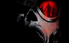 Picture darkness, gas mask, The, Crazies, Madmen