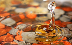 Wallpaper water, microsemi, drop
