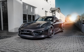 Picture Porsche, black, Caiman, Porsche, Cayman, TechArt