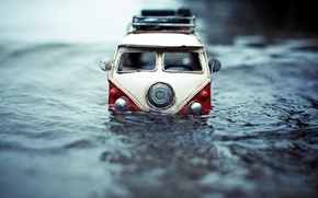 Picture van, photo, toy, photographer, wave, toy, auto, model, model, shooting, Kim Leuenberger, macro, miniature, machine, ...