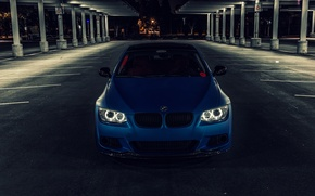 Picture blue, BMW, BMW, Matt, front, E92, Matte, The 3 series, 3 Series, Blue Metallic