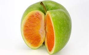 Picture rendering, apple, Apple, orange, orange, mixed fruit