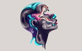 Picture face, paint, color, profile