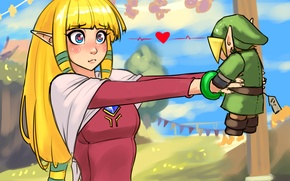 Wallpaper girl, toy, art, zelda, The Legend of Zelda, link