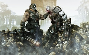 Picture the battle, corpses, killer, gears of war 3