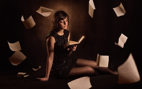 Picture girl, book, page