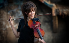 Wallpaper beauty, Lindsey Stirling, Lindsey Stirling, violinist
