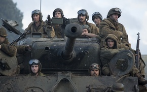 "Picture soldiers, tank, Brad Pitt, Brad Pitt, M4 Sherman, Fury, ""Fury"""