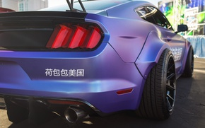 Wallpaper rear view, Mustang, lights, color