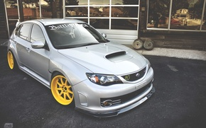 Picture turbo, wheels, subaru, japan, wrx, impreza, jdm, tuning, power, front, sti, face, low, stance