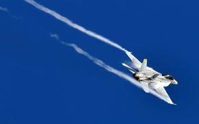 Wallpaper flight, fighter, turbulence