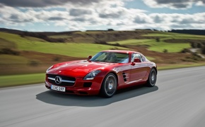 Picture Mercedes, sports car, SLS