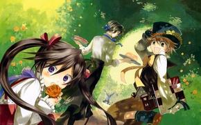 Picture look, holiday, anime, company, pandora hearts, Pandora hearts