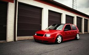 Picture red, volkswagen, red, Golf, golf, Volkswagen, MK4