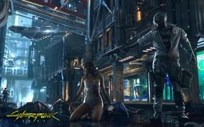 Picture girl, future, cyberpunk, CD Projekt RED, cyberpunk 2077, biorobot