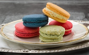 Picture colorful, cakes, macaroon
