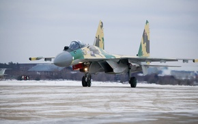 Picture Su-35, Sukhoi, The Russian air force, Flanker-Е+