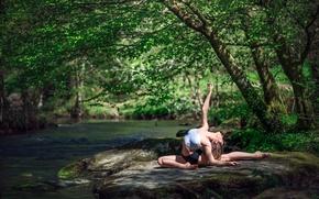 Picture nature, river, gymnast, Marie-Lou Lagrange, grace.stone